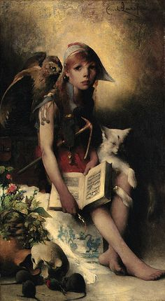 """Carl Larsson (Swedish, 1855-1919), """"The Witch's Daughter"""" by sofi01, via Flickr This is definitely a valid representation of L."""