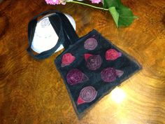 tulle and velvet 70s roses bag