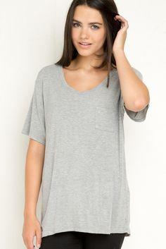 Brandy ♥ Melville   Quinn Top - Clothing Soft, cute, basic tee in grey