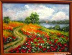 Картинки по запросу маковое поле мастер класс картина из шерсти