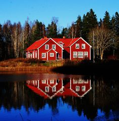 Love the Swedish Red Houses.