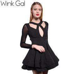 Wink Gal Designer Dress Women Sexy Dress Black Gowns Dresses Big Sizes Fashion Women Clothing 2935 | Diva's fashion store