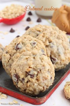 Loaded chocolate chip oatmeal cookies recipe
