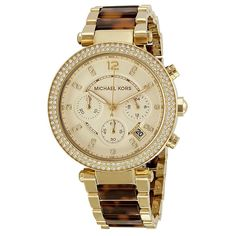 a8ea8b9f2160 Michael Kors Women S Mk5688 Parker Chronograph Gold Dial Two-Tone Bracelet Watch  Michael Kors Shop
