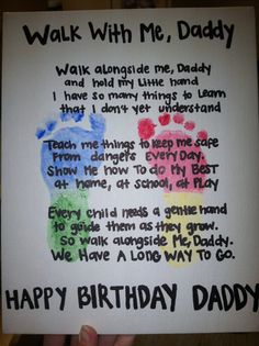 Dad Bday Gift Birthday Craft Daddy Card Kids Cards