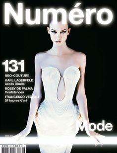 #NumeroFrance 131 #KarlieKloss by #KarlLagerfeld