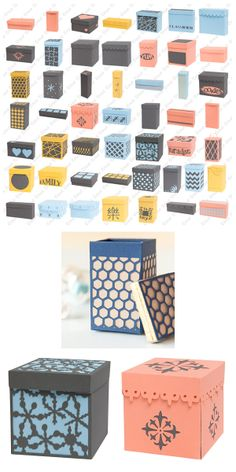 I have this set so we can make boxes for the gifts 🎁 Cricut Tags, Cricut Cuttlebug, Cricut Cartridges, Cricut Ideas, Silhouette Machine, Silhouette Cameo, Fall Crafts, Diy Crafts, Studio Organization