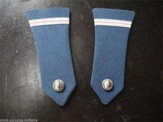 Epaulette de gendarmerie, surplus militaire, ruban argent liseret rouge