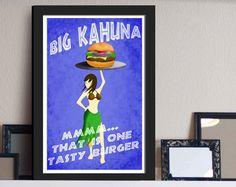 Big Kahuna Burger Sticker Pulp Fiction Movie by TheFatPigeonShop