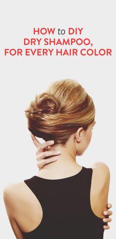DIY dry shampoo for every hair color