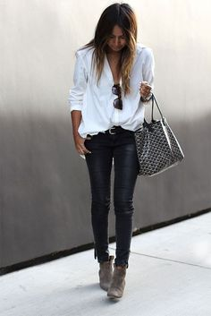 think I can do this with what I have already in the closet. love the booties.