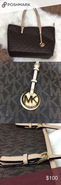 NWT Michael Kors Jet Set Brown Travel Bag New With Tags Michael Kors Jet Set Brown Bag MICHAEL Michael Kors Bags