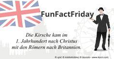 Da wir schon bei Kirschen sind, hier noch ein #FunFactFriday: Die Kirsche kam im 1. Jahrhundert nach Christus mit den Römern nach Britannien.