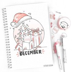 December cover page! 🎄🎁🎀 My Christmas theme is very much Mika's Winter Wonderland inspired (from 🐑☁️ Atm, my theme co… December cover page! 🎄🎁🎀 My Christmas theme is very much Mika's Winter Wonderland inspired (from 🐑☁️ Atm, my theme colors… … December Bullet Journal, Bullet Journal Christmas, Bullet Journal Cover Ideas, Bullet Journal Writing, Bullet Journal Aesthetic, Bullet Journal School, Bullet Journal Ideas Pages, Bullet Journal Spread, Bullet Journal Inspo