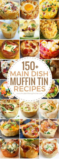 These muffin tin recipes include both savory and sweet main dishes for breakfast, lunch, dinner and appetizers. Muffin tin recipes are quick, easy to make and great for on the go. They are also great for portion Brunch Recipes, Appetizer Recipes, Breakfast Recipes, Dinner Recipes, Breakfast Ideas, Dinner Ideas, Brunch Ideas, Toast Ideas, Lunch Ideas For Guests