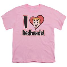 ARCHIE COMICS/I LOVE REDHEADS - S/S YOUTH 18/1 - PINK -