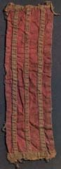 "Gold-embroidered silk, maybe from Byzantium, found in Lund, Sweden. (source:""The vikings"" Graham-Cambell, James. British Museum 1980 ISBN 0 71 41 1352 2)"