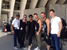My faves Artem, Sasha, Henry & Tristan at rehearsals with Gladys Knight for performances at this venue 8-9 Aug 2014