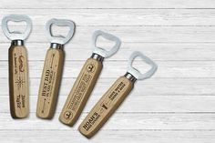 Personalised Wooden Bottle Opener – 4 Designs!