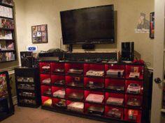 Imagina, tu cuarto con todoas las consolas que conozcas
