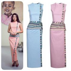 Ci Ci fashion  Myanmar traditional dress for causal wear