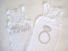 Bride Tank Top Shirt Half Lace With Ring on by TheLittleBridalShop, $20.00