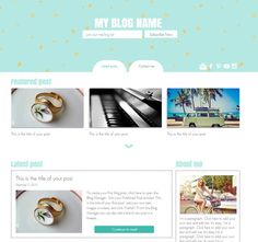 Premade WIX template: SEO HTML5 website | blog, photography ...