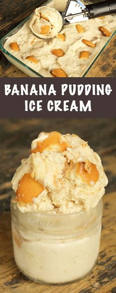 All the flavors of banana pudding in a creamy, homemade ice cream. Tolle Desserts, Köstliche Desserts, Frozen Desserts, Summer Desserts, Frozen Treats, Summer Food, Plated Desserts, Summer Recipes, Banana Pudding Ice Cream