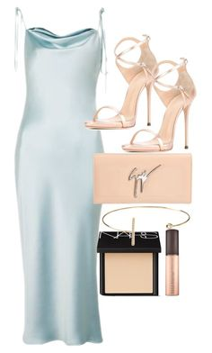 """Untitled #4787"" by olivia-mr ❤ liked on Polyvore featuring Topshop, Giuseppe Zanotti, NARS Cosmetics and Jeweliq"