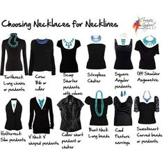 Necklaces to wear with Necklines for the most flattering, fashionable look - don't forget!  All OUR jewelry is  only $5! | http://www.thefashionparamedic.blogspot.com