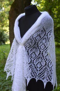 Ravelry: Ligvita's Cambria Shawl Wedding Shawl, Crochet Shawl, Ravelry, Knitting, Lace, Handmade, Tops, Women, Fashion