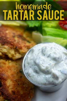 Lower Excess Fat Rooster Recipes That Basically Prime This Homemade Tartar Sauce Recipe Takes About 5 Minutes To Toss Together, Is Packing Way More Flavor Than Anything Youd Buy At The Store, And Is Perfect For Serving Up With Your Favorite Fish Best Dip Recipes, Sauce Recipes, Fish Recipes, Seafood Recipes, Crockpot Recipes, Cooking Recipes, Favorite Recipes, Healthy Recipes, Homemade Tartar Sauce