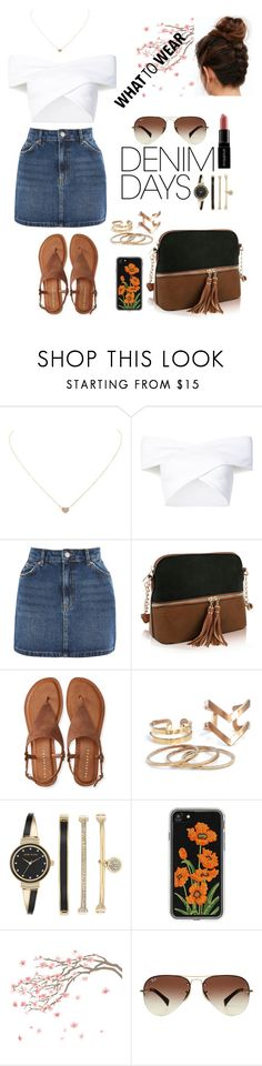 """""""WHAT TO WEAR"""" by missymoss ❤ liked on Polyvore featuring Humble Chic, Opening Ceremony, Topshop, MKF Collection, Aéropostale, Anne Klein, Zero Gravity, Ray-Ban, Smashbox and denimskirts"""