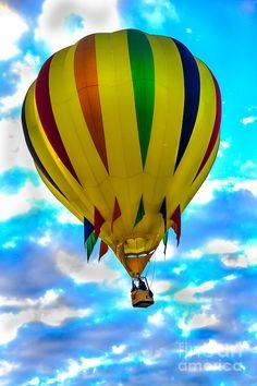 Yellow Striped Hot Air Balloon (Photo: Robert Bales)