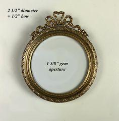 Antique Petit French Dore Bronze Gem Frame, Photo or Miniature, 2nd Empire Victorian Photos, Antique Frames, Old Ones, Empire, Miniatures, Gems, Bronze, Display