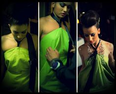 """""""Green, the color of balance and harmony. Equilibrium between the head and the heart. Barcelona, Workshop, Sari, Formal Dresses, Unique, Green, How To Make, Color"""
