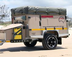 Conqueror Australia's UEV4400 camper trailer features almost everything a regular home has.