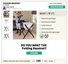 A review of my favorite baby bassinet from Cariboo (and a new buying service called Twined that helps get the best price) via http://mommycoddle.com