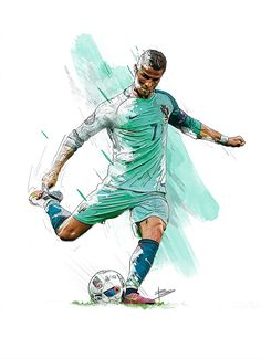 Ronaldo - Portugal Players - UEFA Euro 2016 on Behance - Soccer Photos Cristiano Ronaldo Cr7, Cristino Ronaldo, Cristiano Ronaldo Wallpapers, Ronaldo Football, Fifa Football, Football Art, College Football, Soccer Art, Soccer Poster