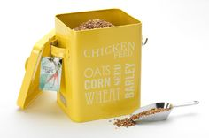 chicken feed tin. diy this?