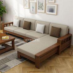 Living Room Partition Design, Living Room Tv Unit Designs, Living Room Sofa Design, Bedroom Furniture Design, Sofa Furniture, Wooden Living Room Furniture, Tv Unit Furniture Design, Corner Sofa Design, Sofa Bed Design