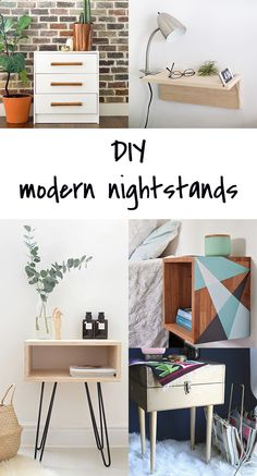Ohoh Blog - diy and crafts: 5 DIY to try # modern nightstands