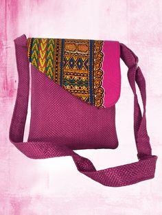 Soft sling bag tribal fabric African print fabric crossbody bag Messenger bag women  green canvas bag