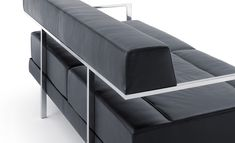 NOTI #elegant #sofa from IXO collection #design by #JerzyLangier in #StainlessSteel for #office #reception #WorkPlace
