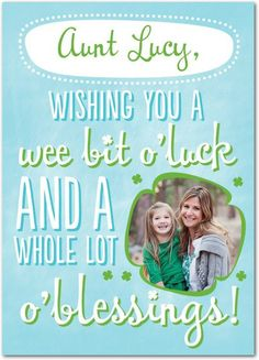 Lucky and Blessed - St Patricks Day Cards in Teal | Magnolia Press