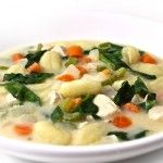 Olive Garden Chicken Gnocchi Soup Made Skinny with Weight Watchers Points | Skinny Kitchen