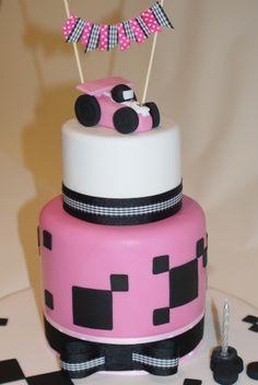 race car birthday for girls | In: Go Kart Girl in album: Birthday Cakes