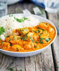 Bite sized chunks of chicken enveloped in a creamy, aromatic, and flavorful gravy simmered to perfection in a slow cooker to reduce hands-on cooking time without sacrificing any of the flavor... Serve this version of the 'most popular Indian dish' with basmati rice or your favorite Indian flat bread and some yogurt to make the perfect Indian 'comfort meal'!