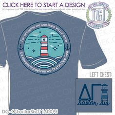TGI Greek - Delta Gamma - Sailor Sis - Greek Apparel #tgigreek #deltagamma