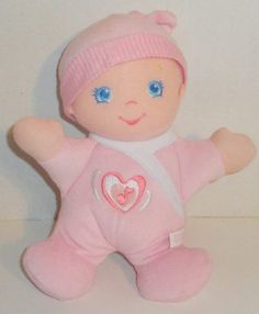 """FISHER PRICE HUG N GIGGLE PINK BABY 10"""" PLUSH LAUGHING DOLL MUSICAL SOUNDS TOY #FisherPrice"""